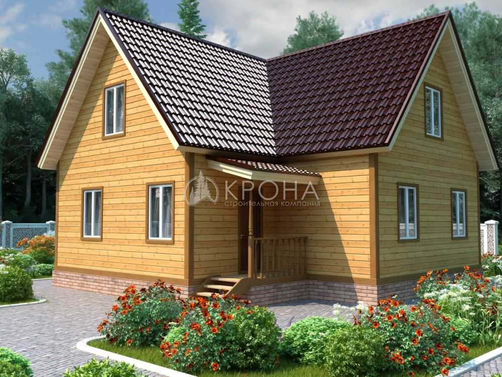 Каркасный дом Крона 130