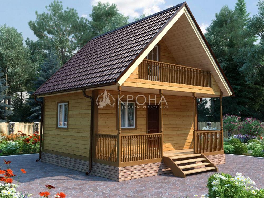Каркасный дом Крона 61